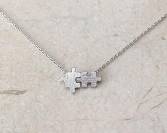 Silver Puzzle necklace