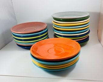 Fiestaware Plates, Fiesta ware Plates, Fiestaware Saucer, Vintage Fiestaware