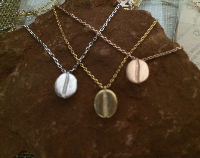 Bean Necklace // Coffee Bean // coffee lover // barista