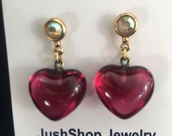 Vintage Heart Earrings