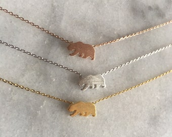 California Grizzly Bear Necklace // Bear Republic // Bear necklace //