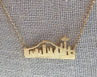 Gold Seattle Skyline