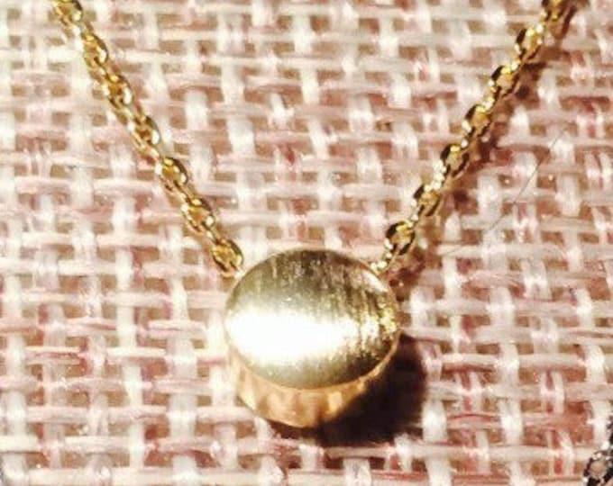 Gold Dot Necklace, tiny dot necklace, minimalist jewelry, achievement, tiny circle, dainty dot, layering necklace, friendship necklace