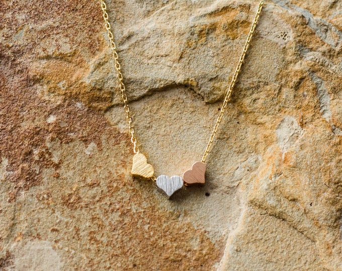 Three Hearts Necklace