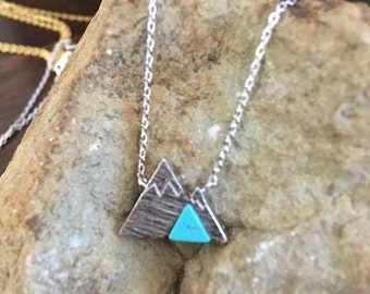 Mountain Necklace Turquoise Silver
