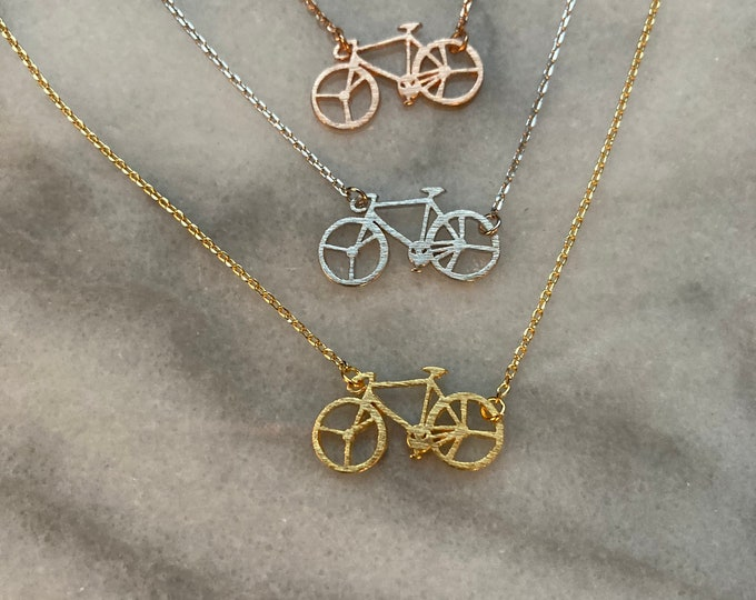 Bike Necklace // Bicycle Necklace