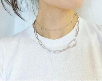 Carabiner Chain Necklace, Carabiner Chain Bracelet, Gold Carabiner Necklace, Silver Carabiner Necklace, Silver Carabiner, Chain Necklace