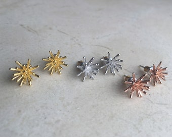 Starburst Earrings. Spoke Earrings