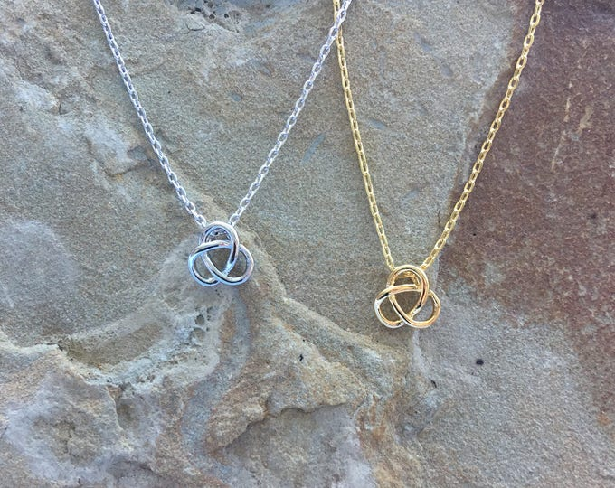 Celtic Knot Necklace, Irish Knot Necklace, Knot  necklace