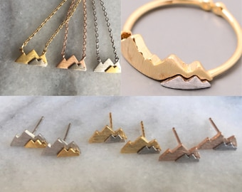 Mountain Necklace, Mountain Ring, Mountain Earrings