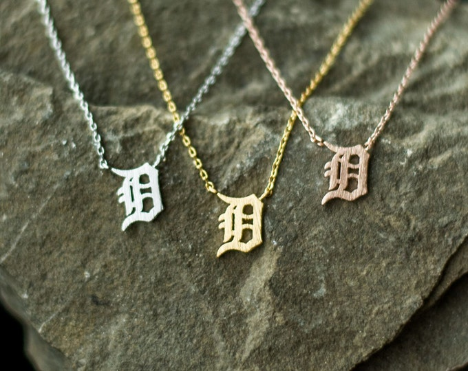 Detroit D Necklace