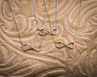 Infinity necklace Everlasting Bond Without Limits forever necklace love forever necklace
