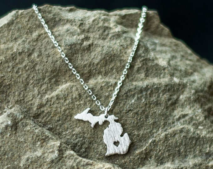 Silver Michigan Necklace