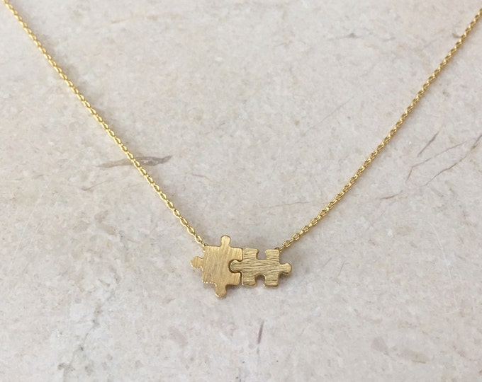 Gold Puzzle necklace