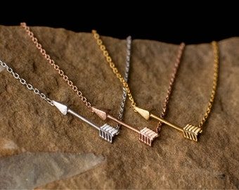 Arrow Necklace gold arrow silver arrow rose gold arrow