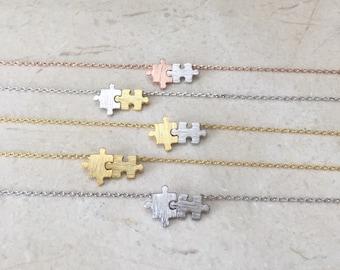 Puzzle necklace  // autism puzzle // Puzzle Piece Necklace