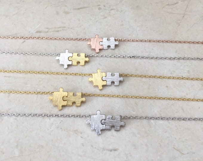 Puzzle necklace  // autism puzzle // Puzzle Piece Necklace
