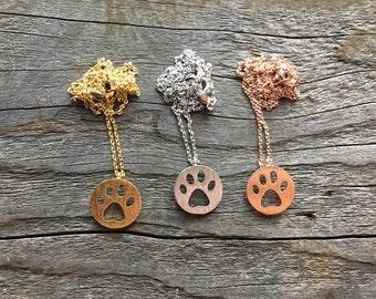 Paw Necklace, Dog Paw, Bear Paw, Cat Paw,  Dog Necklace, Paw