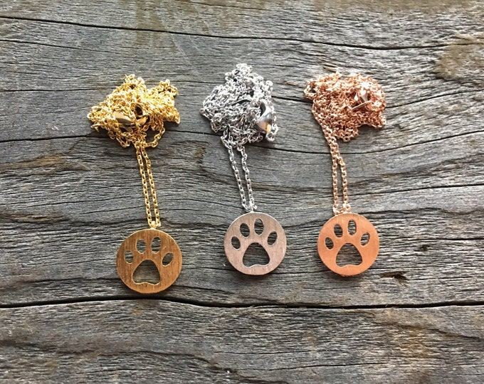 Paw Necklace, Dog Paw, Bear Paw, Cat Paw,  Dog Necklace, Paw