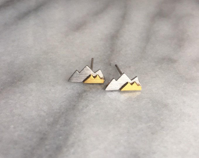 Silver Mountain earrings