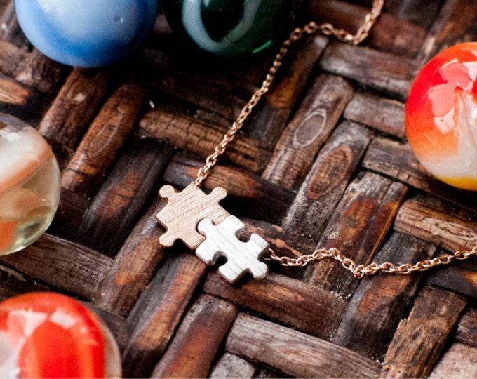 Puzzle Piece Necklace Autism Awareness