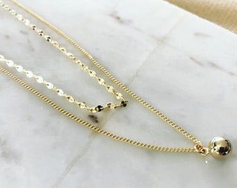 Double Layer Ball Necklace