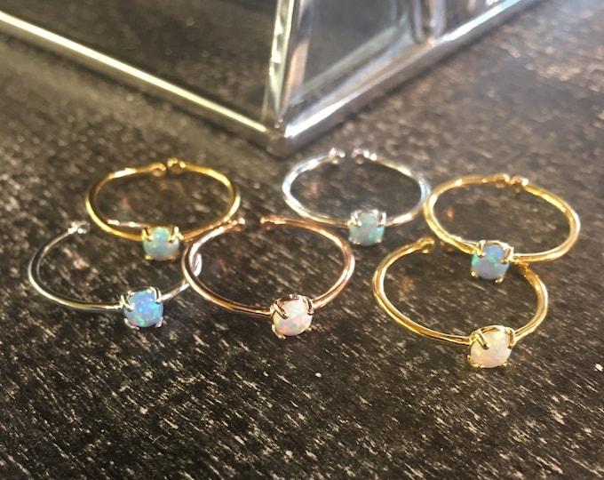 Dainty Opal Ring