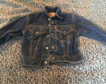 Vintage Levi Jean Jacket // Child's Levi Jacket// 1970's Levi Jacket//Vintage Levi's Jean Jacket