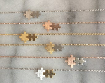 Autism Awareness Puzzle Piece Necklace// Puzzle Piece // Autism // puzzle jewelry // autism jewelry