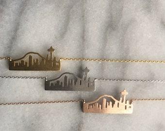 Seattle Skyline Necklace