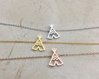 My Tribe // Tipi necklace // Teepee Necklace // wigwam