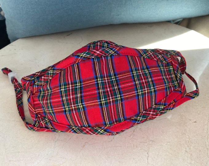 Tartan Red Plaid Face Mask
