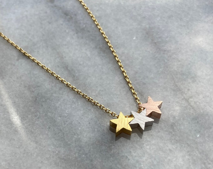 Star Necklace, Triple Star Necklace