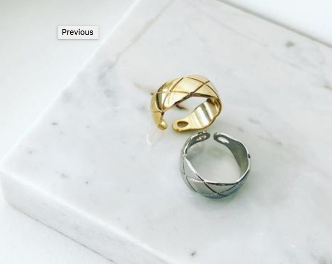 Quilted Coco Ring
