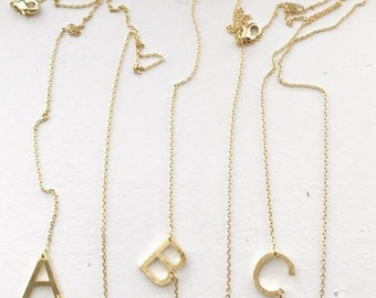 Initial Necklace, Letter Necklace