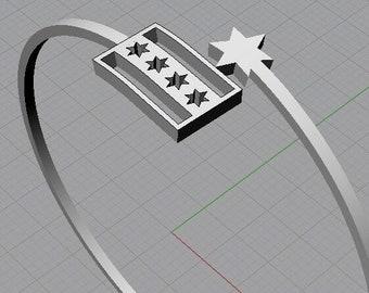 Chicago Flag, Chicago Flag Necklace, Chicago Flag Bracelet