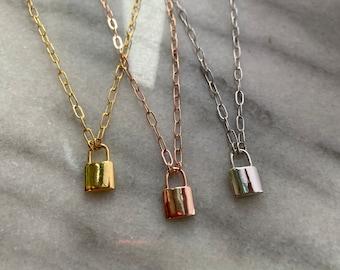 Dainty Lock Necklace