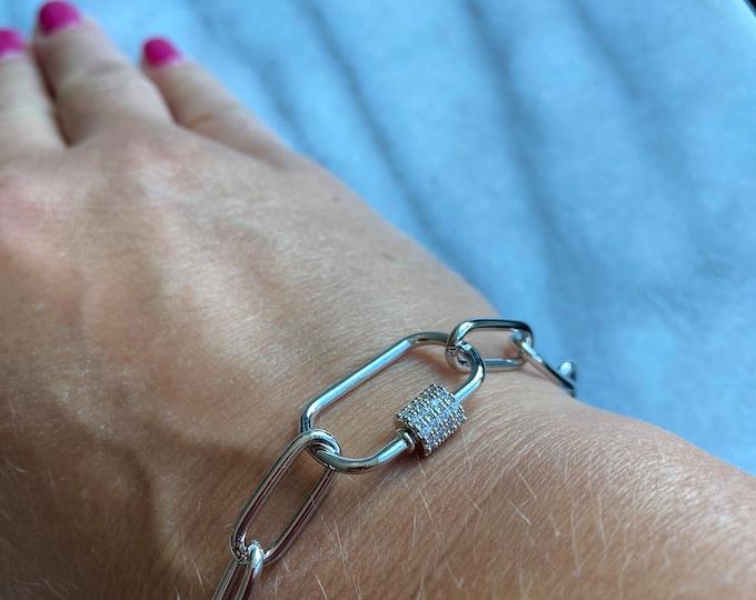 Carabiner Bracelet, Chain Bracelet
