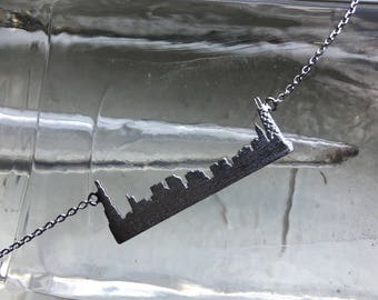 Silver Chicago Skyline Necklace