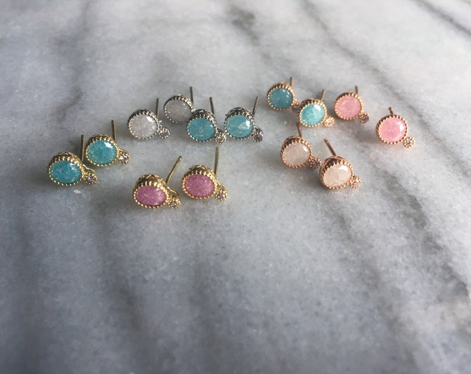 Bubble gemstone earrings