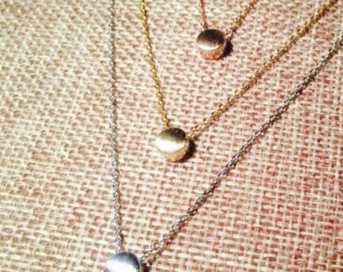 Dot necklace, circle necklace, dainty dot necklace
