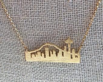 Gold Seattle Skyline