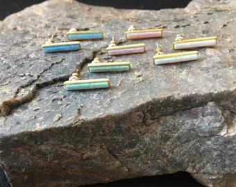 Opal Bar Earrings