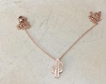 Rose Gold Cactus necklace