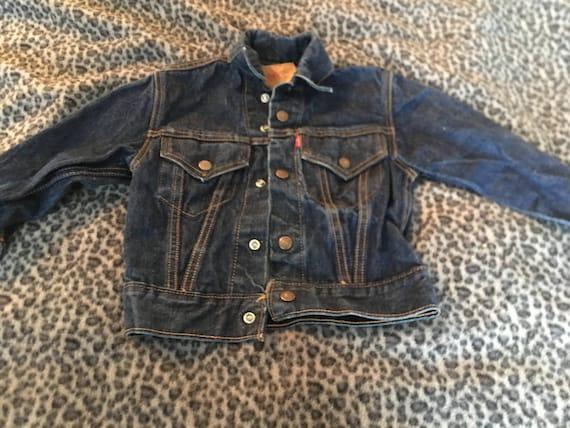 Vintage Levi Jean Jacket // Child's Levi Jacket//