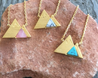 Mountain necklace Gold Mountain Necklace