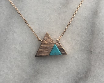 Rose Gold Mountain Necklace