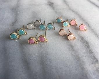 Bubble gemstone earrings