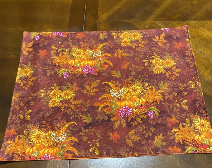 Fall Linens, Fall Table Linens, Pumpkin Table Decor, Fall Placemats, Pumpkin Linens, Fall Table Decor, Thanksgiving Placemats, Fall Harvest