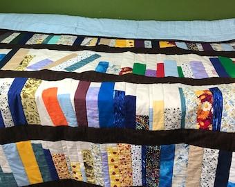 Bookshelf Quilt Bookcase Book Lovers Gift Shelf Decor Quilted Throw Blanket OOAK